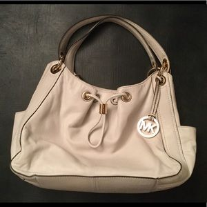 Michael Kors large purse off white